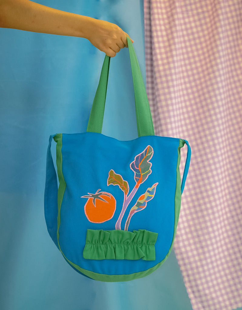 Blue Ruffles Sling Bag – Veggies