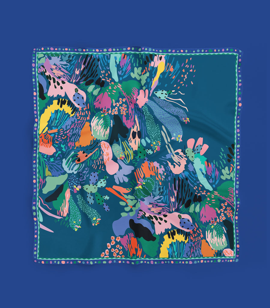 Scarf – Forget Me Not 60 x 60 cm (small)