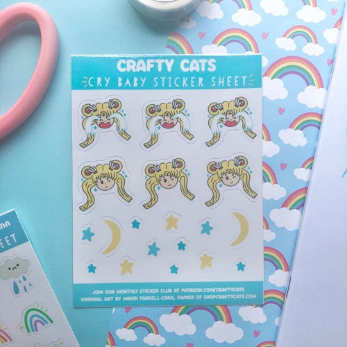 Cry Baby Sticker Sheet