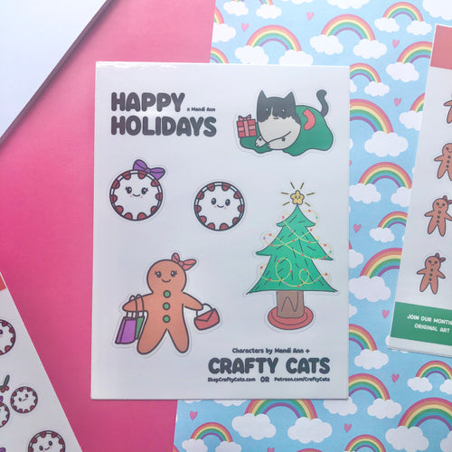 Happy Holidays Sticker Sheet