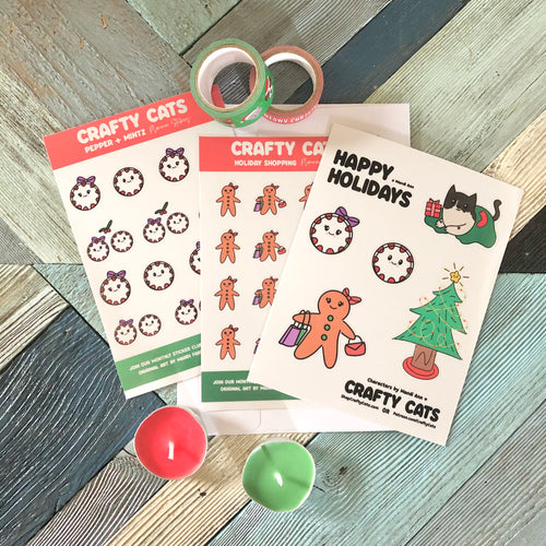 Happy Holidays Sticker Sheet Bundle