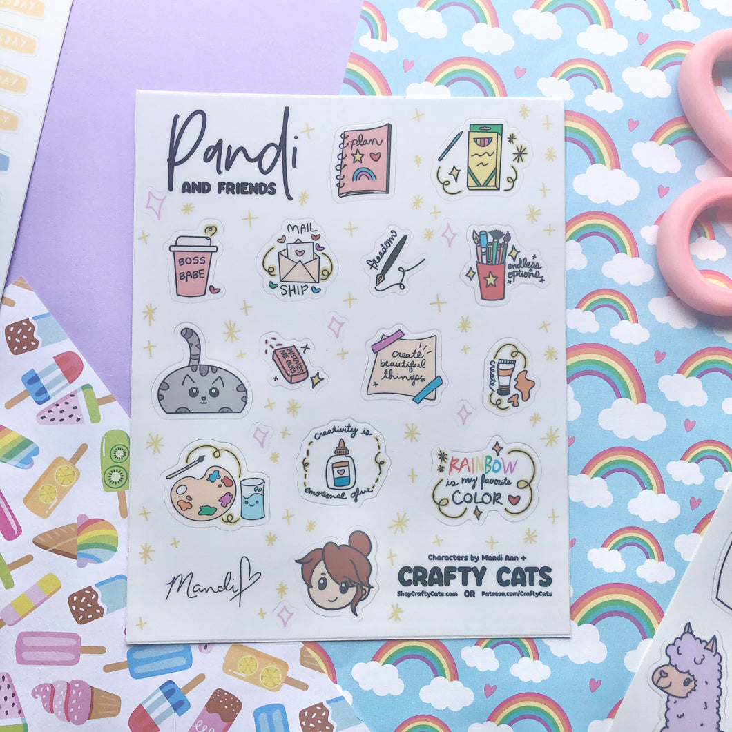 Pandi and Friends Sticker Sheet