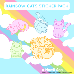 Rainbow Cats Sticker Pack