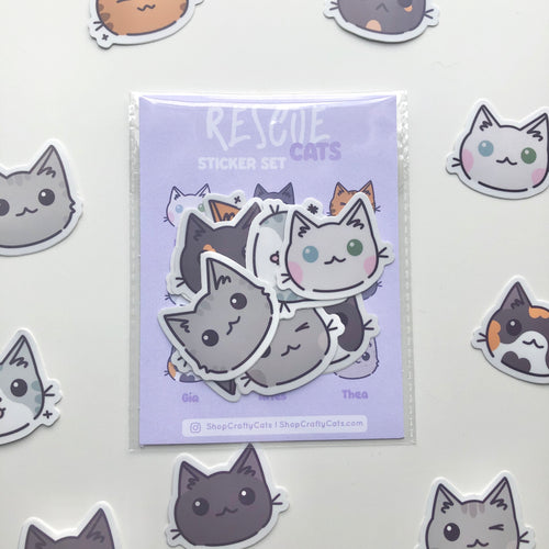 Rescue Cat Sticker Pack
