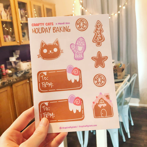 Holiday Baking Sticker Sheet