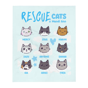 Rescue Cats Throw Blanket