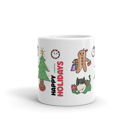 Happy Holidays Christmas Coffee Mug