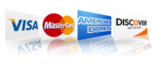Accept Major Credit Cards