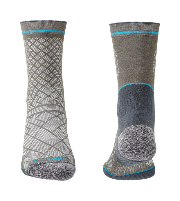 Bridgedale Men's Hike Ultralight Coolmax Performance Boot Socks - Grey/Dark Grey