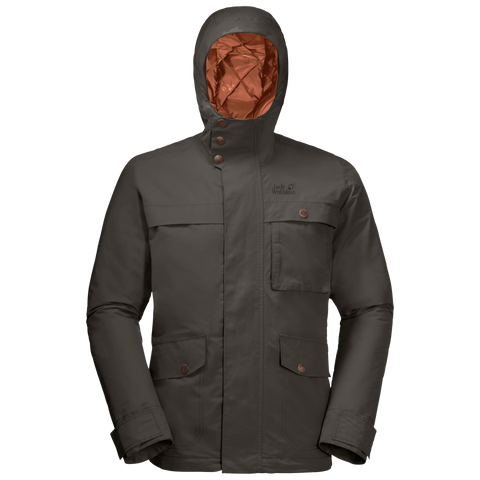 Jack Wolfskin Men's Wildwood Insulated Jacket - Brownstone