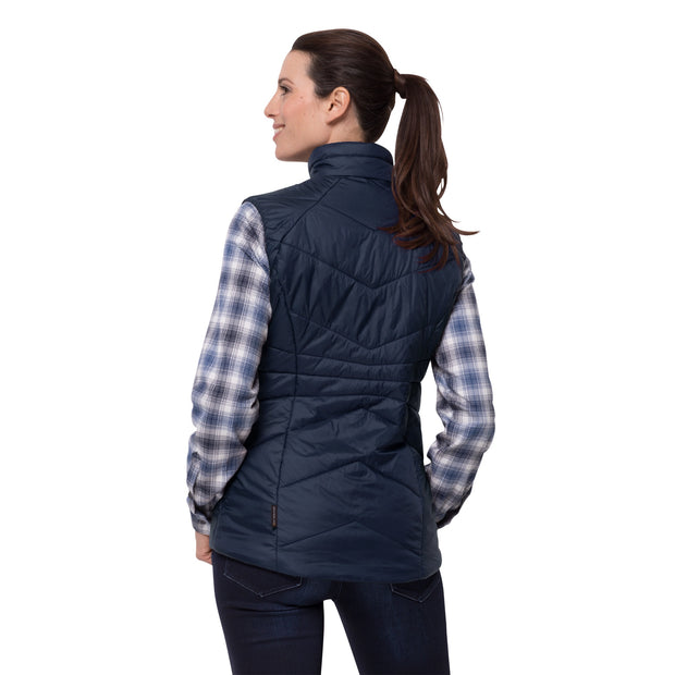 Jack Wolfskin Women's Argon Vest Windproof Insulated Gilet - Midnight Blue