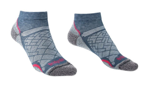 Bridgedale Women's Hike Ultralight Coolmax Performance Ankle Sock - Dark Denim