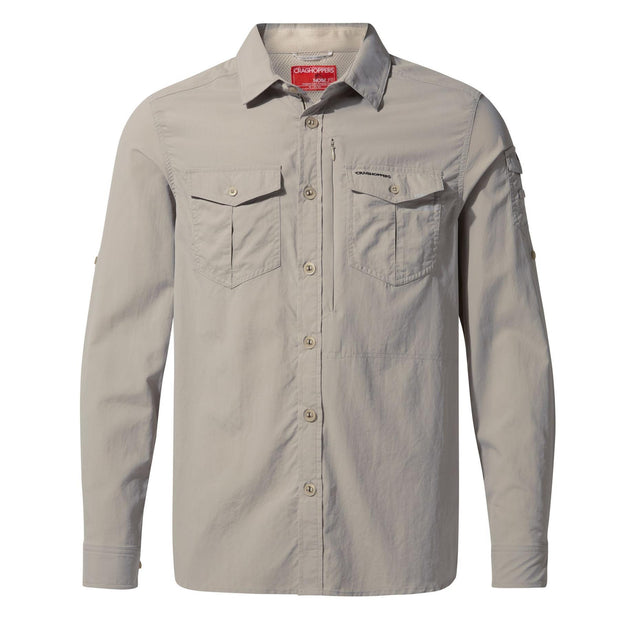 Craghoppers Men's NosiLife Adventure II Sun-protective Long-Sleeved Shirt