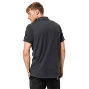 Jack Wolfskin Men's Travel Polo Shirt - Black