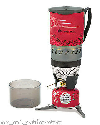 MSR Windburner Personal Camping Gas Stove System - Red