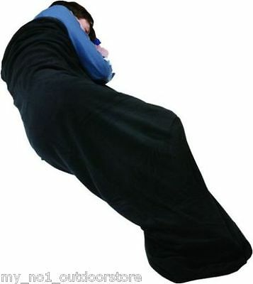Trekmates Warm Microfleece Sleeping Bag Liner -  Black