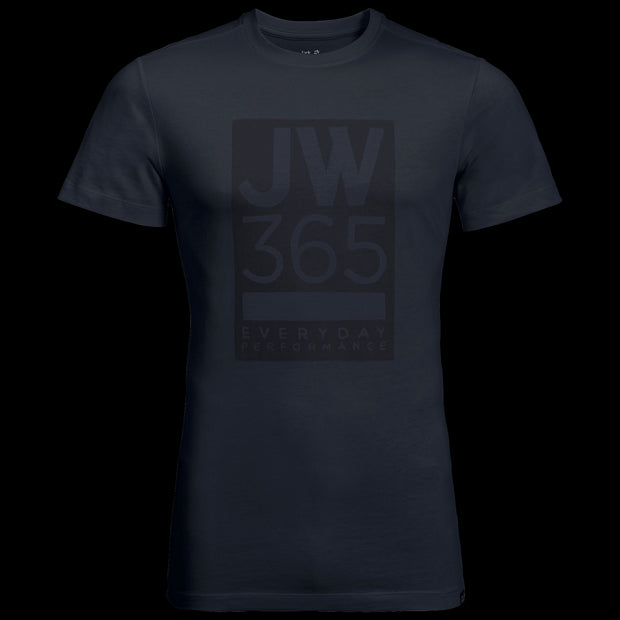 Jack Wolfskin Men's 365 Lightweight Everyday Performance T-Shirt Night Blue