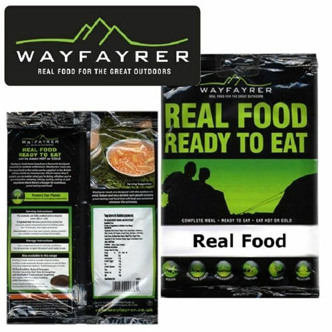 Wayfayrer Expedition Camping Food Complete Meal Ready to eat Hot or Cold