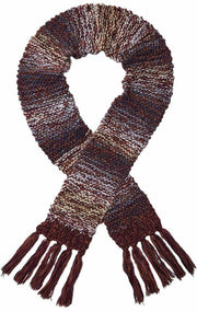 Screamer Women's Chellene Hand-Knit Long Scarf - Marsala/Oyster/Denim