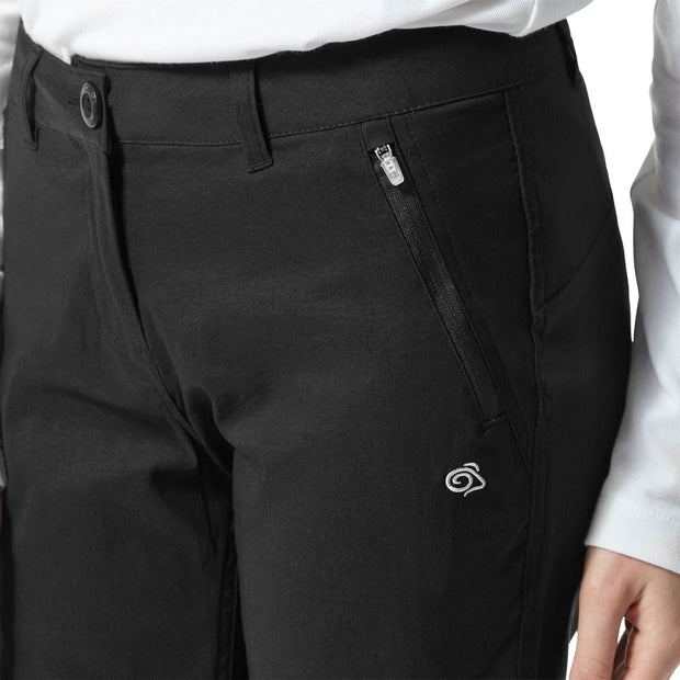 Craghoppers Women's Kiwi Pro Convertible Trousers Short Leg Black