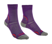 Bridgedale Women's Hike Ultra Light T2 3/4 Crew Merino Performance Socks