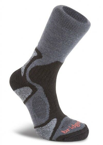 Bridgedale Men's Coolfusion Trailblaze Walking Trekking Socks - Gunmetal/Black