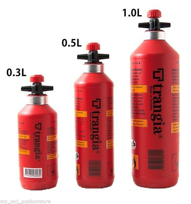 Trangia Fuel Bottle with Safety Valve - 1.0lt, 0.5lt, 0.3lt