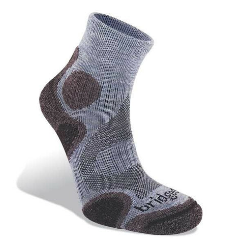 Bridgedale Women's Coolfusion Trail Diva Hiking Sock - Heather/Damson