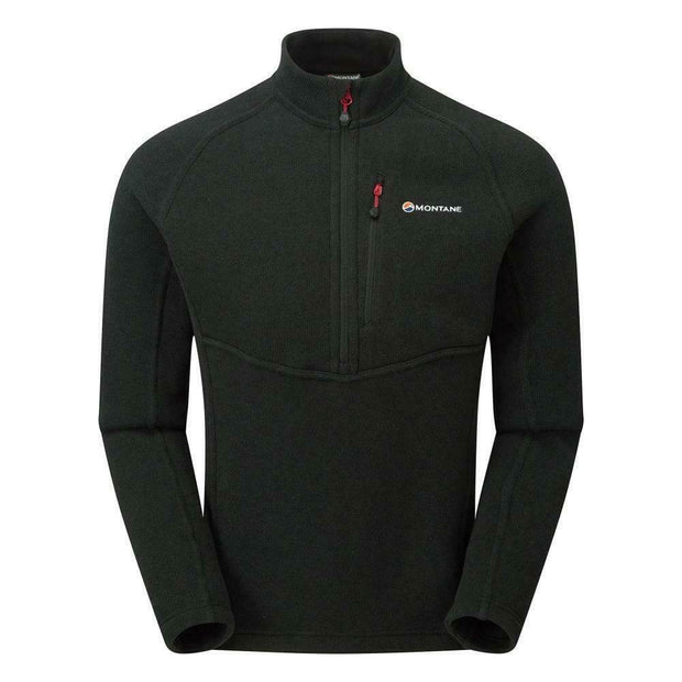Montane Men's Neutron Mountain Pull-On Zip Neck Fleece - Black