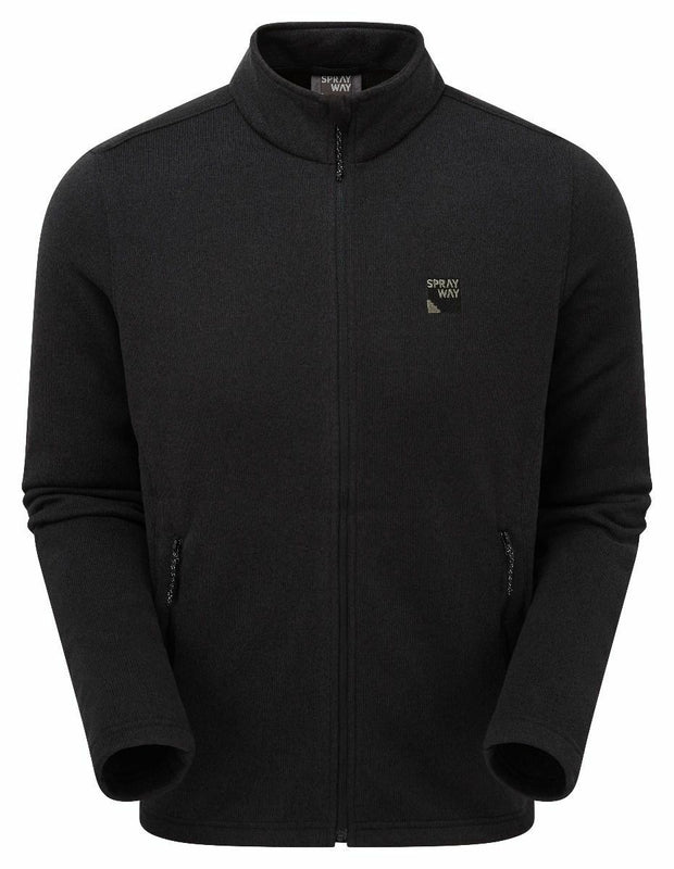 Sprayway Men's Preto Full Zip Fleece Jacket - Black