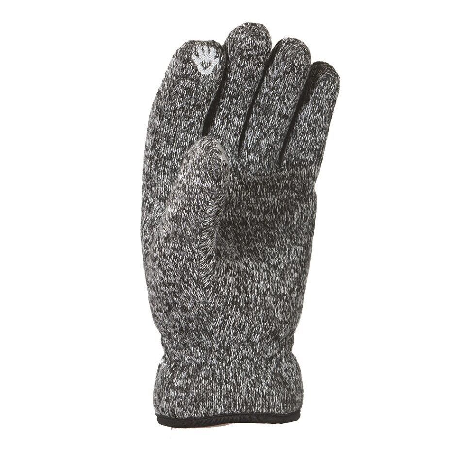 Trekmates Arran Fleece Lined Windproof Knitted Touchscreen Glove Charcoal