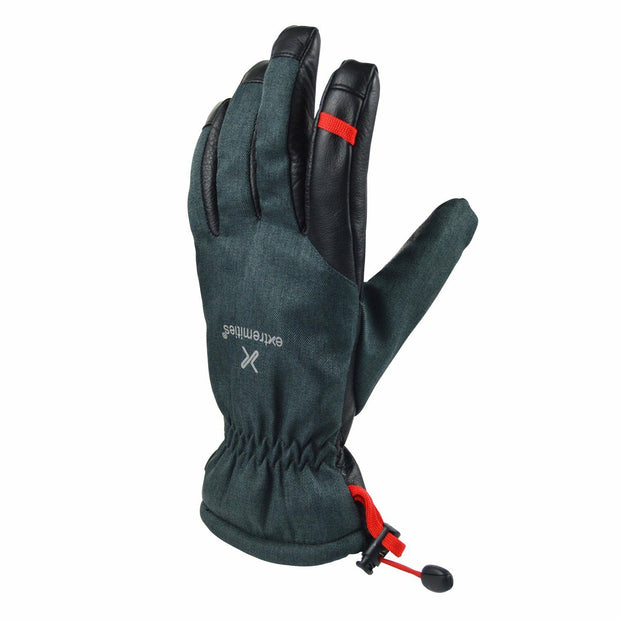 Extremities Mistaya Waterproof Leather Palm Walking Glove - Grey