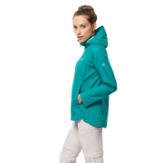 Jack Wolfskin Women's  Scenic Trail Waterproof Jacket - Aquamarine