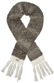 Screamer Women's Chellene Hand-Knit Long Scarf - White/Latte