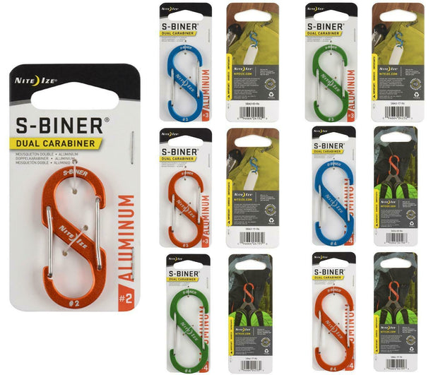 Nite Ize Unisex's S-Biner Dual Aluminum Carabiner, Lime, Size 4