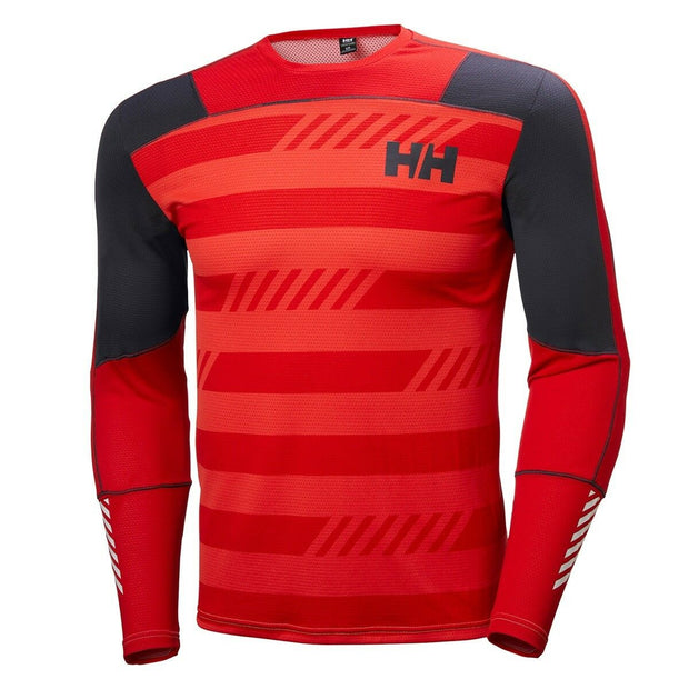 Helly Hansen Men's Lifa Active Graphic L/S Crew Top - Flag Red