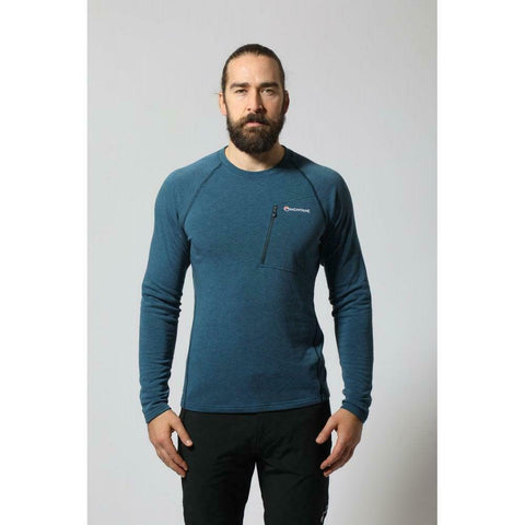 Montane Men's Viper Polartec Thermal Fleece Pullover - Narwhal Blue