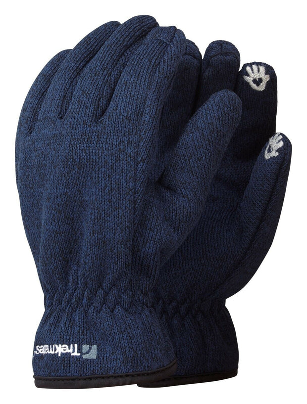 Trekmates Arran Fleece Lined Windproof Knitted Touchscreen Glove - Dark Navy