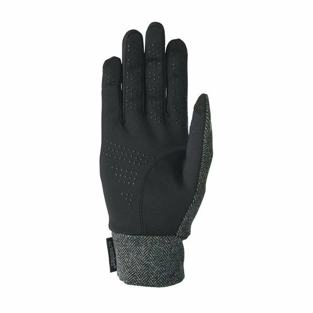 Extremities Herringbone Touch Liner Gloves - Grey