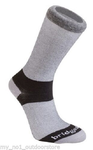 Bridgedale Men's Coolmax Liner Sock (Twin Pack)- Grey