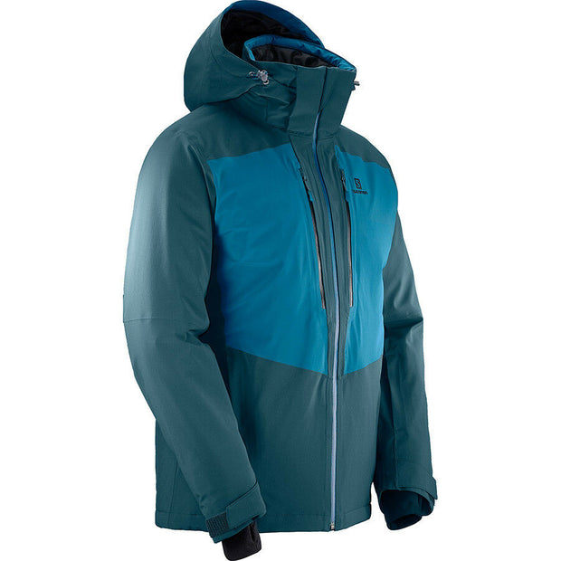 Salomon Men's Icefrost Ski Boarding Jacket - Reflecting/Moroccan Blue