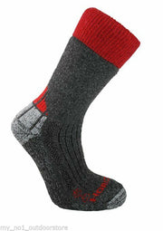Horizon Women's Expedition Primaloft/Merino Mix Walking Socks - Charcoal/Red