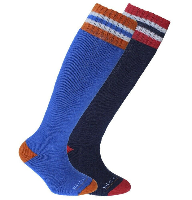 Horizon Kid's Alpine Merino Ski Socks (Twin Pack) (12½-3UK)