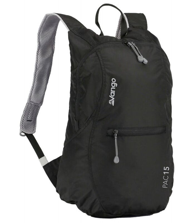 Vango Pac Foldable Packable Rucksack - Black 15 Litres