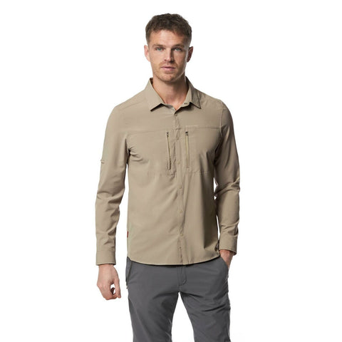 Craghoppers Men's NosiLife Pro III Long-Sleeved Parchment Shirt