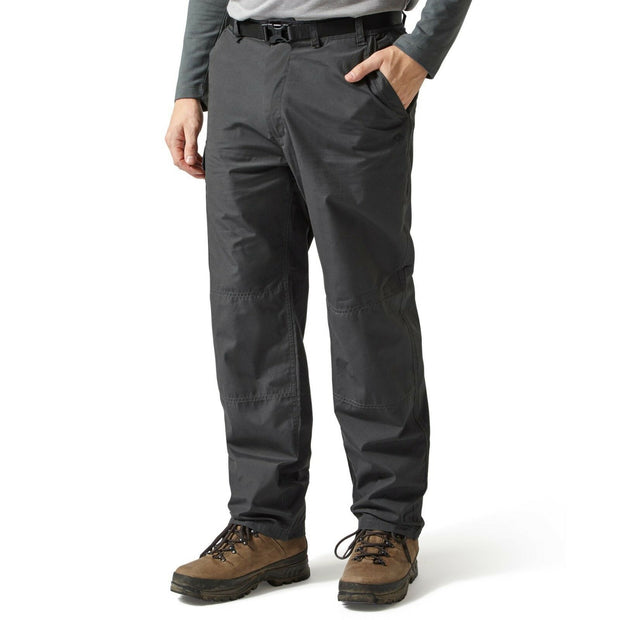 Craghoppers Men's Classic Kiwi Walking Trousers (Reg Leg) - Black Pepper