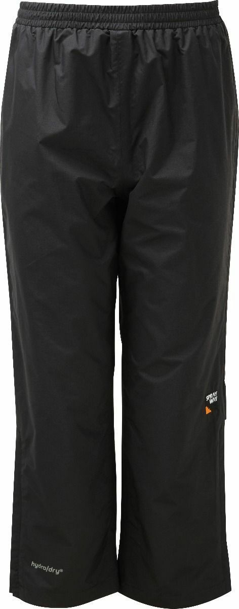 Sprayway Junior Kids Unisex Waterproof Rainpant Overtrousers - Black