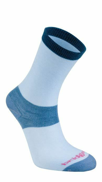 Bridgedale Women's Coolmax Liner Socks (Twin Pack) - Sky Blue