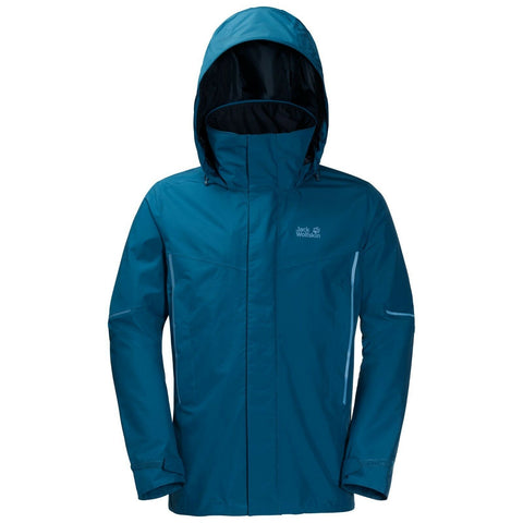 Jack Wolfskin Men's Escalente Waterproof Recycled Cycling Jacket - Glacier Blue