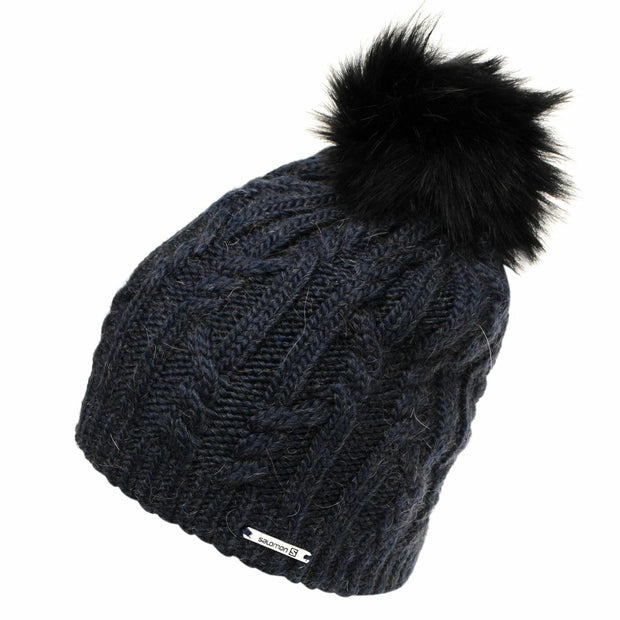 Salomon Ivy Beanie Pom Pom Hat - Dress Blue